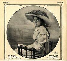 Mlle.de Valentinos - Thronfolge in Monaco c.1912