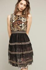 NWT Anthropologie Embroidered Vigne Dress by By Varun Bahl size L