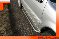 MERCEDES ML 2002-2005 MARCHE-PIEDS INOX PLAT / PROTECTIONS LATERALES