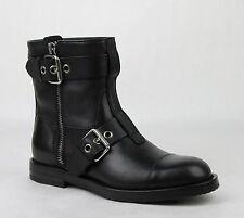 New Gucci Men's Black Leather Sella Ankle Biker Boot 7G/US 7.5 368430 BUV00 1000