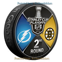 Tampa Bay Lightning vs Boston Bruins 2018 Stanley Cup Playoffs 2nd Round Puck