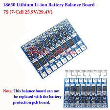 25.9V 29.4V 18650 Li-ion Lithium Battery Charger Module Balance Board 7S 7 cell