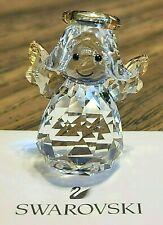 "New ListingSwarovski Crystal 2017 ""Joyful Figurines"" Golden Rocking Angel, Box, Logo, Coa"