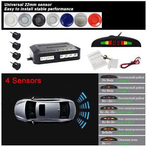 Auto Parktronic LED Parking Sensors Kit Reverse Radar Monitor System Car Alarm