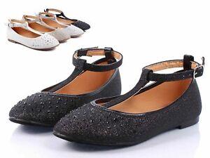 Black Color Glitter Toddler Buckle Princess Kids Flats Girls Dress Shoes Size 11