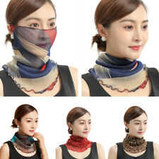 Face Mask Scarf Mouth Cover Outdoor UV Protection Anti Shawl Veil Gift UK