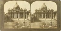 Italia Roma Cattedrale Saint-Pierre, Foto Stereo Vintage Analogica PL62L2n4