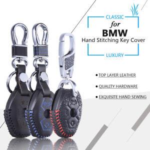 Leather Key Cover for BMW X3 X5 Z3 Z4 3 5 7 SERIES E38 E39 E46 E83 M5 325i Fob