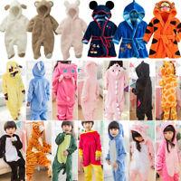 Kid Animal Pajama Romper Kigurumi Cosplay Sleepwear Costume Bathrobes Bodysuits