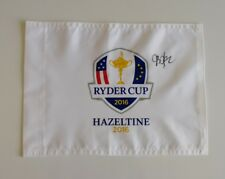 JB Holmes signed 2016 Ryder Cup Hazeltine golf flag / COA
