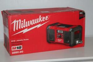 Milwaukee 2890-20 M18 Heavy-Duty Jobsite Radio Audio System (Tool Only) - New