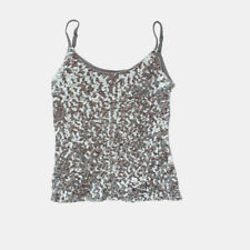 Lady Sequins Strap Vest Glitter Camisole Shiny Sleeveless Shirt Tops Dance  Tank 9b24b7b0480d