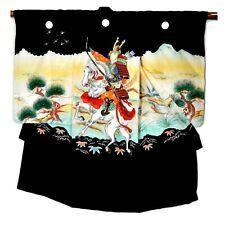 Samurai Silk Kimono Boys Ceremonial Outfit Black with Embroidery