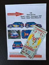DECALS 1/43 CITROEN SAXO KIT CAR ROUIT N°30 RALLYE DU MONT BLANC 1997 RALLY WRC