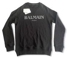 Balmain Herren Luxuriöse Sweatshirt mit 3D-Logo , Gr L, Neu!