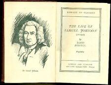 BOSWELL James - The life of Samuel Johnson
