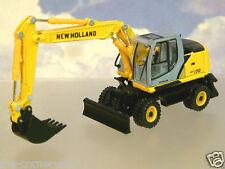 Diecast 1/87 HO NEW HOLLAND we170 con ruote Caricatore/Escavatore/Digger da Motorart
