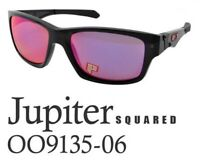 Oakley Jupiter Squared POLARIZED Sunglasses OO9135-06 Black Ink W/ OO Red Lens