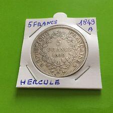 Pièce de 5 F en argent Hercule 1849 A