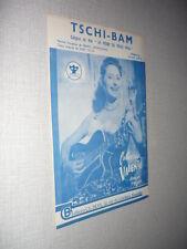CATERINA VALENTE PARTITION MUSICALE BELGE TSCHI-BAM