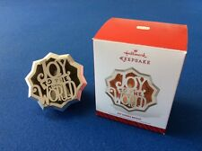 Joy to the World - 2014 Hallmark Keepsake Christmas ornament in original box