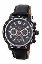 NWT Tommy Bahama Mens Kailua Chronograph Watch Black Leather TB00013-03 $225