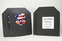 CATI Armor® AR500 Steel Plates Base Coating Level III 8x10 PAIR with Trauma Pads