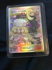 Pokemon: Cosmic Eclipse Cynthia & Caitlin Full Art 228/236 MINT