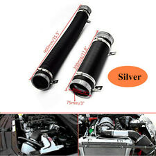 "1m Silver Car 3""Washable Car Turbo Cold Air Intake Pipe Hose Tube kit Exquisite"