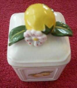 Villeroy & Boch Porzellan - Marmeladen / Konfitüre Dose - Zitronen Deckel