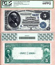 1882 DB $5 The Franklin NB of Philadelphia Fr.537 CH#5459. PCGS CH UNC64 PPQ