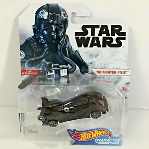 Star Wars Hot Wheels Character Cars The Fighter Pilot 2017 Die-Cast Vehicle New