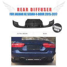 Carbon Fiber Rear Bumper Lower Lip Spoiler Diffuser Fit For Jaguar XE 2015-2017