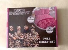 PINK CAMO FULL SIZED SHEET SET 100% MICROFIBER POLYESTER Duck Dynasty