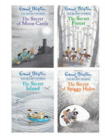Secret Stories Series Collection 4 Book Set By Enid Blyton The Secret Island NEW