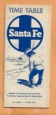 SANTA FE  RAILROAD  TIMETABLE 1966 SPRING  VINTAGE