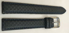Luxury Wrist Watch Band Christian Bernard-Leder 15mm, Blue Steel Lock