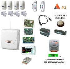 KIT ABSOLUTA 42 COMPLETO 4 SENSORI INTERNI 2 ESTERNI LED SIRENA TOUCH IP GSM