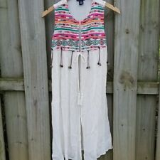 Cotton Express Boho Embroidered Vest - size small