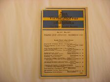 Original Victor Phonograph Record Catalog - Swedish May, 1917