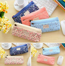 Double zipper large cosmetic Canvas bag Students stationery pencil bags Pop TSUS