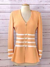 ST JOHN Collection Size 4 Santana Knit Jacket Peach Orange