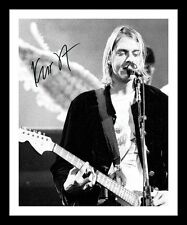 KURT COBAIN - NIRVANA AUTOGRAPHED SIGNED & FRAMED PP POSTER PHOTO 1
