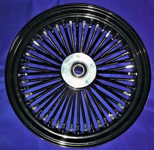 "FAT SPOKE 16"" FRONT WHEEL BLACK HARLEY ELECTRA GLIDE ULTRA ROAD KING STREET"