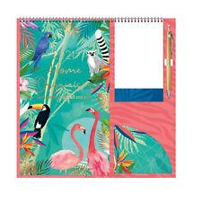 Tallon 2021 Family Organiser Calendar with Pad, Pocket and Pen - Animals