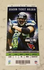 Seattle Seahawks Arizona Cardinals Football Ticket 12/22 2013 Red Bryant Card 79