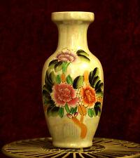 Pretty Pearl Effect Floral Design Big Decorative Ceramic Vase