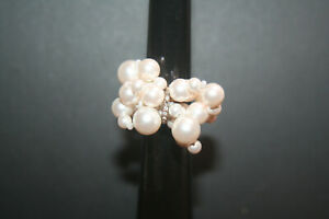 Swarovski Donatella Pearl Crystal Ring