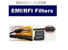 2pc Universal Metal Detector Cable Coil Fe Filter Block Eliminates Noise EMI RFI