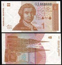 CROATIA 1 Dinara, 1991, P-16, UNC World Currency